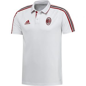 adidas AC Milan Polo 2017-2018 White Victory Red Black