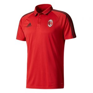 adidas AC Milan Polo 2017-2018 Victory Red Black