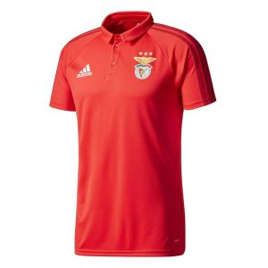 adidas Benfica Polo 2017-2018 Benfica Red Power Red Black