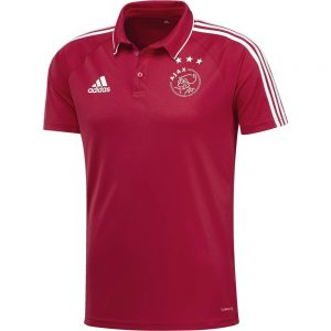 adidas Ajax Polo 2017-2018 Bold Red White
